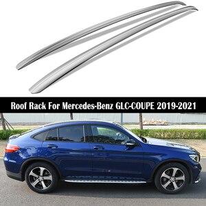 Roof Rack For Mercedes-Benz GLC-COUPE GLC220 GLC250 GLC300 GLC350 Rails Bar Luggage Carrier Bars top Cross bar Rack Rail Boxes