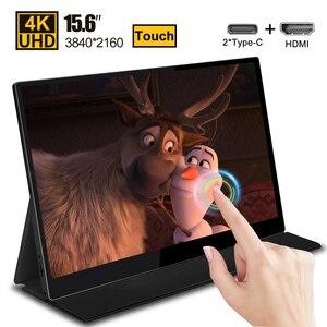 15,6 4K USB 3,1 Type-C сенсорный экран портативный монитор для Ps4 переключатель Xbox Huawei Xiaomi телефон игровой ноутбук монитор с ЖК-дисплеем