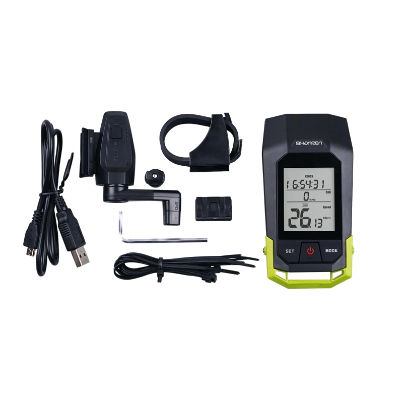 Waterproof rechargeable LCD wireless bike speedometer with multi function  - buy with discount