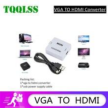 TQQLSS 1080P Малый Белая коробка преобразователь из VGA в HDMI совместимых с аудио VGA2HDMI адаптер для ноутбука HDMI ТВ проектор VGA HDMI к DVB T