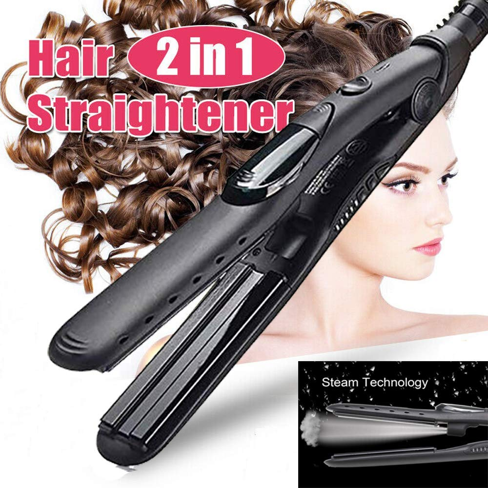 Professional Steam Hair Straightener Ceramic Vapor Hair Flat Iron straighten Hair Straightening Iron Curler Steamer Hair Styler