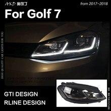 AKD-voiture pour VW Golf 7 MK7   Golf 7.5 R conception de ligne de Golf DRL Hid, feu de tête à Signal dynamique Bi xénon accessoires pour faisceau