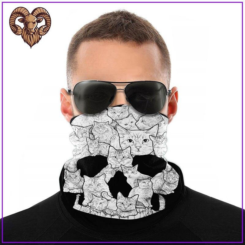 Mascarillas faciales Sketchy, máscara de calavera de gato para hombre y mujer a la moda para protección antivirus, mascarillas faciales pm2.5 de algodón con filtro para el cuidado de la piel, 2020