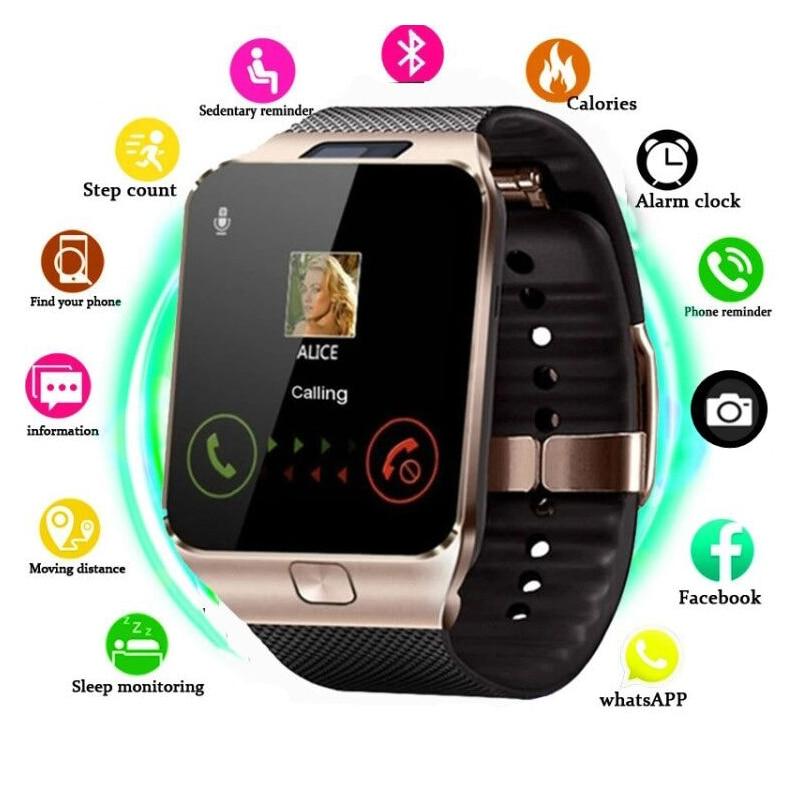 VBDK DZ09 ساعات رجالي 2021 ساعة رياضية ساعة إلكترونية دعم TF بطاقة SIM كاميرا SMS دعوة المرأة Smartwatch للهاتف أندرويد