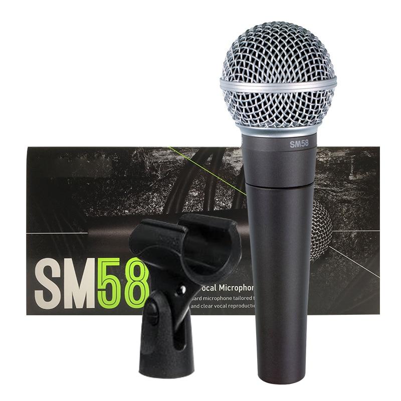 Micrófono profesional para karaoke, dispositivo con cable dinámico cardioide SM 58, para...