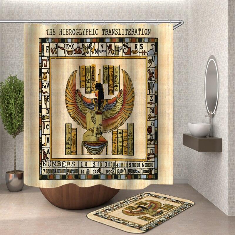 Египетская душевая занавеска из полиэстера, египетская мифология, занавеска для ванной комнаты Nephthys Anubis tefnut Osiris