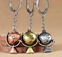 2019 nouveau Globe longue chaîne porte-clés en alliage plaqué hommes porte-clés Vintage Style terre voiture porte-clés bijoux pour ami