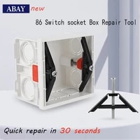 86 118 type switch socket bottom box repair screw broken old mounting box fast recovery simple installation without dismantling