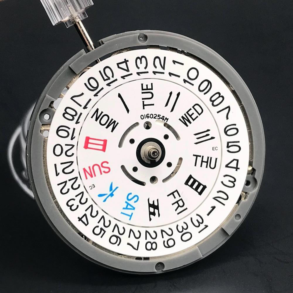 اليابان عالية الجودة NH36A الحركة التلقائية الأبيض عجلة ساعة أجزاء تاريخ/يوم الإعداد 24 مجوهرات ساعة استبدال
