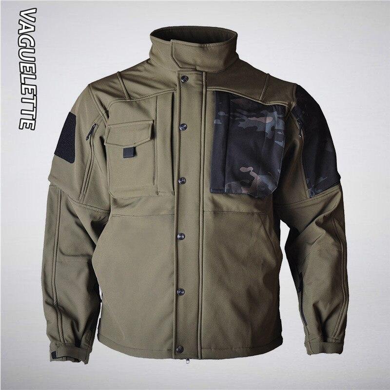 Мужская зимняя камуфляжная куртка в стиле милитари