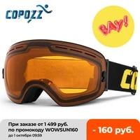 copozz brand ski goggles men women snowboard goggles glasses for skiing uv400 protection skiing snow glasses anti fog ski mask
