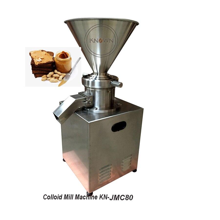 Precio de fábrica JMC80 cacahuate, coco de sésamo máquina de molienda de tomate molino coloidal pasta mermelada mantequilla de chile de trituración fabricante