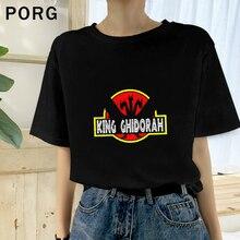 Roi Ghidorah impression esthétique femmes T-Shirt décontracté à manches courtes T-Shirt Ulzzang Kawaii hommes T-Shirt Streetwear