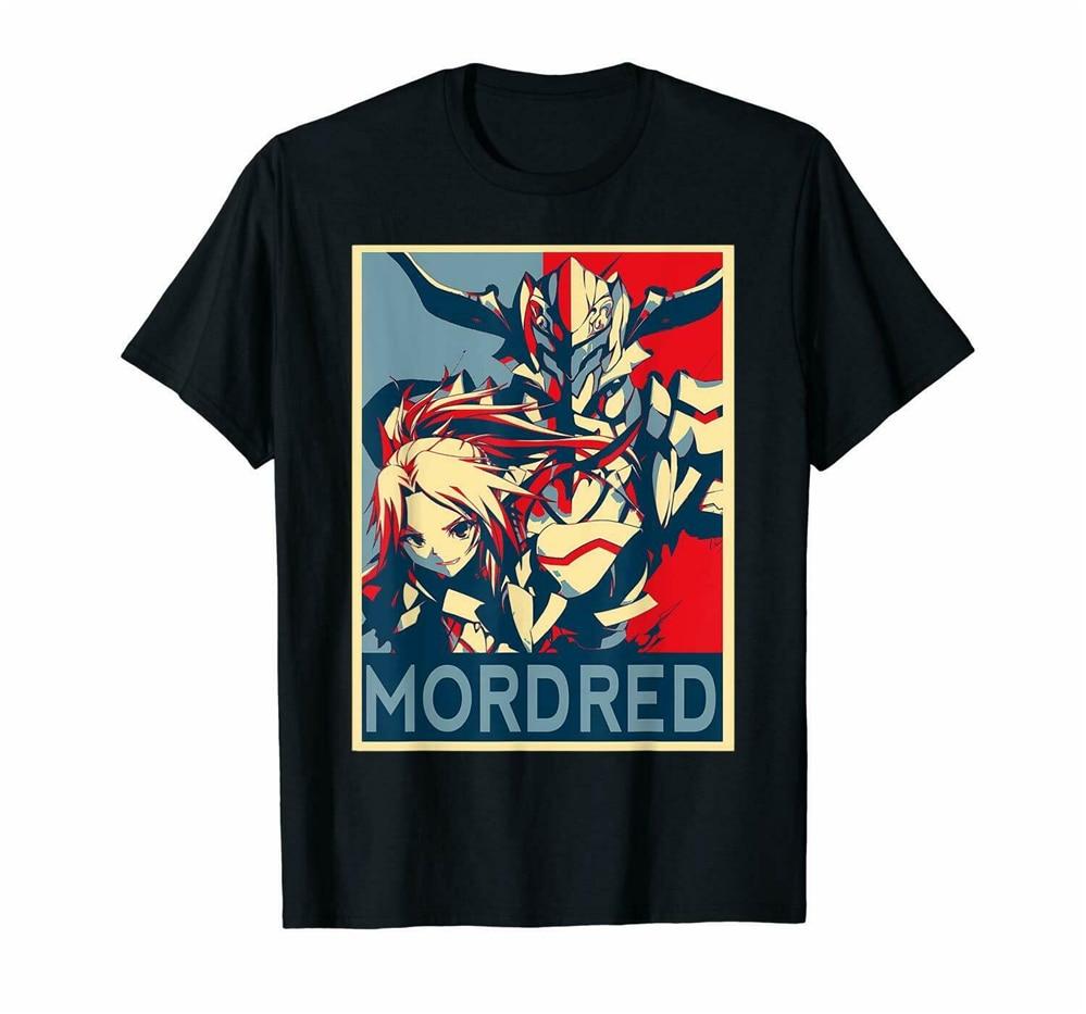 Mordred Fate Apocrypha Astolfo Anime negro camiseta hombres mujeres Semiramis S-3XL Harajuku camiseta de Hip Hop