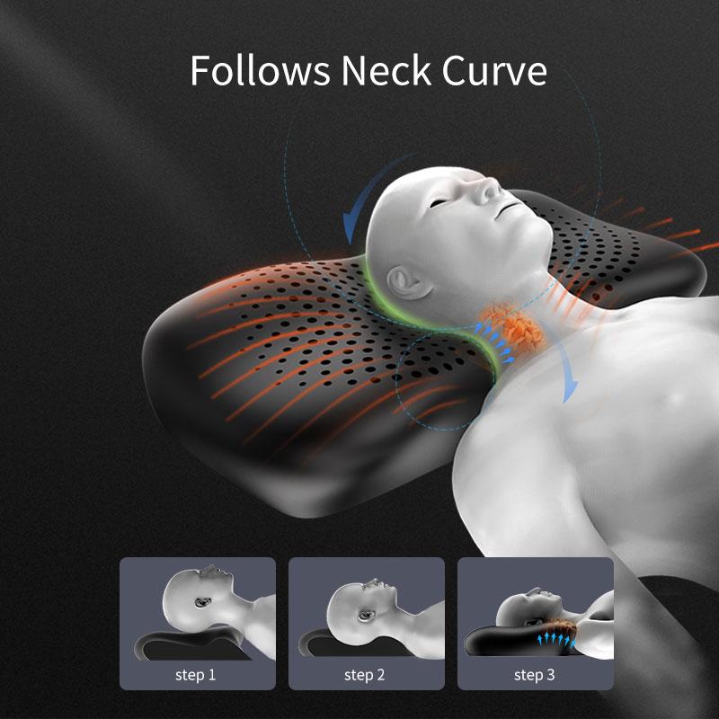 وسائد إسفنجية مرنة للسرير ، وسادة تقويم العظام مع دعم للرقبة والظهر والمعدة للنوم