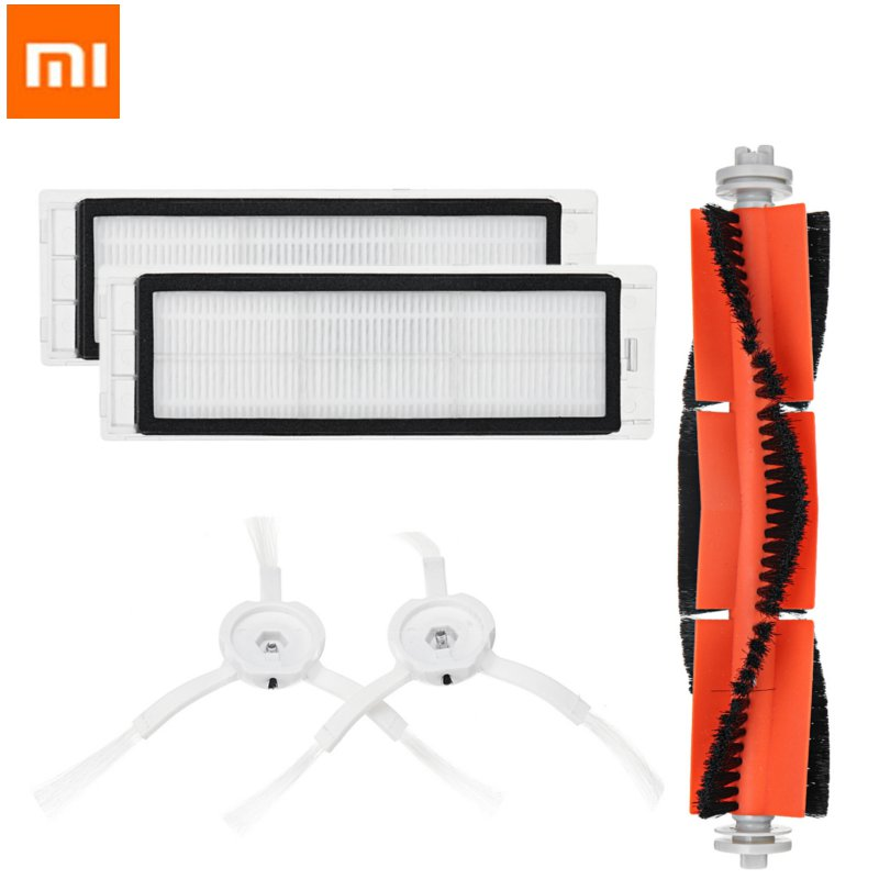 5PCS HEPA Filter + Side Brush + Main Brush for Xiaomi MI Robot Replacements Kit Vacuum Cleaner Parts Accessories