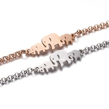 Elephant Bracelets for Women Fashion Chain Mother's Day Gifts Pulseira Feminina Jewelry Mom Children Wrap Bracelet