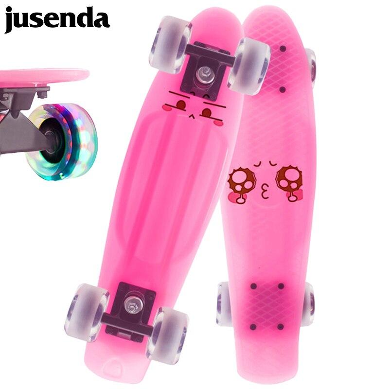 Jusenda-patinete Mini Cruiser de 22 pulgadas para adultos y niños, patineta con...