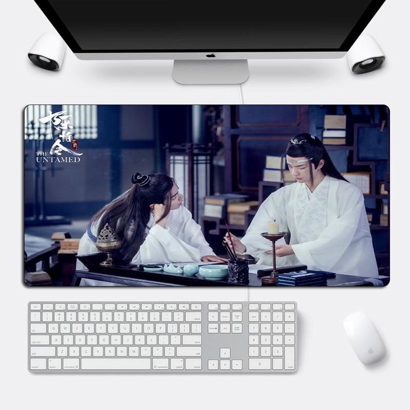 DIY de La salvaje Mouse pad Xiao Zhan Wang yibo gran juego Mousepad Borde de bloqueo 60x30cm genial Durable alfombrilla para escritorio de ordenador