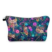 sloth selling cosmetic storage bag organizer save mask clutch purse women toiletry cute zipper handbags makeup bag pencil cases