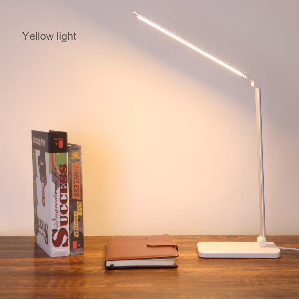 Lámpara Led de escritorio Coquimbo, Interruptor táctil sin escalonamiento ajustable, batería integrada, Cargador USB, giratorio, plegable, Lámpara Led regulable para escritorio