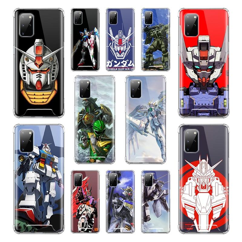 Gundam de dibujos animados para Samsung Galaxy S20 Ultra S10 Plus 5G S10e S9 S8 Nota 10 Airbag Anti caída TPU teléfono