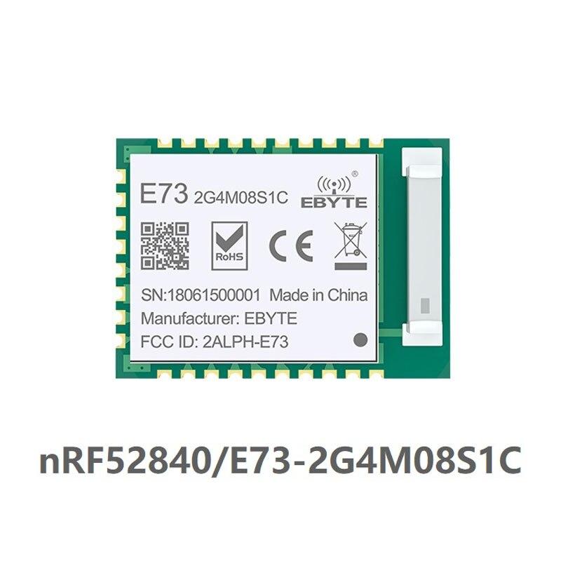 E73-2G4M08S1C nRF52840 IC Módulo de radiofrecuencia 2,4 GHz 8 dBm de largo alcance Bluetooth 5,0 nrf52 nrf52840 transmisor y receptor