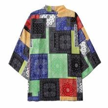 Kimono Jassen Bandana Gedrukt 2020 Mannen Harajuku Streetwear Casual Dunne Gown Japan Stijl Losse Size Open Stitch Shirts