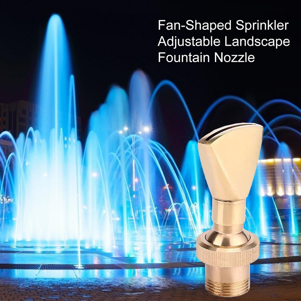 All Copper Adjustable Fan-Shaped Sprinkler Landscape Fountain Fan Nozzle Water Curtain Nozzle Landscape Design Nozzles