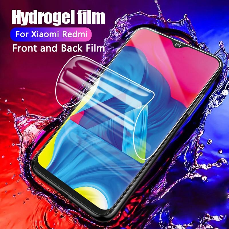 Protetor de filme de hidrogel para poco f2 pro x3 nfc f1 para mi vermelho 9 nota 9s 7 8 9 pro protetor de tela para mi 10 9 nota 10 lite 9t pro