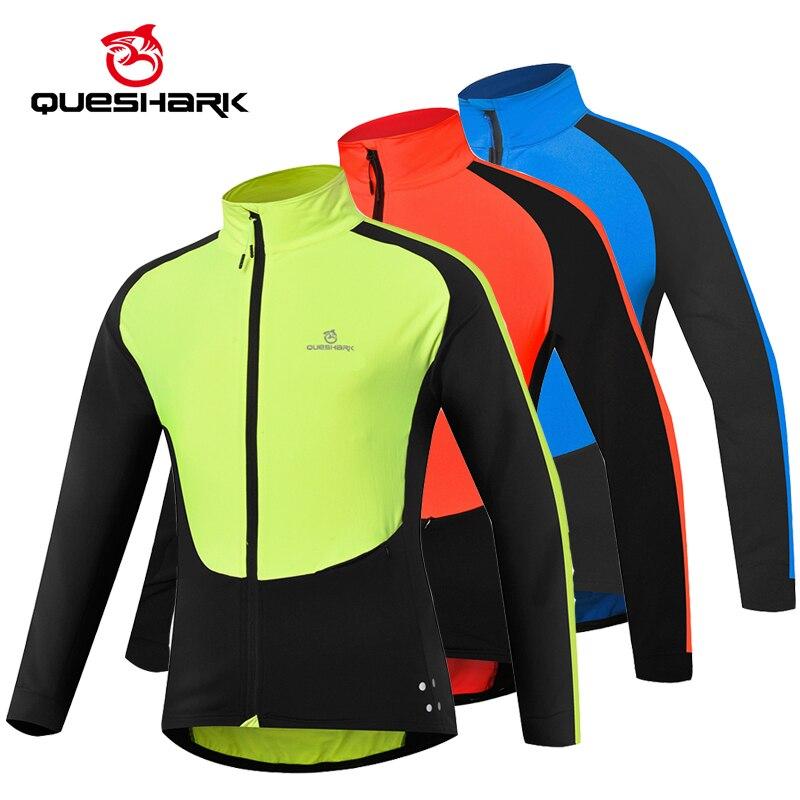 Queshark, chaqueta de ciclismo para primavera y otoño para hombre, a prueba de viento, manga larga, Jersey fino para ciclismo, camiseta, camiseta, ropa deportiva para bicicleta