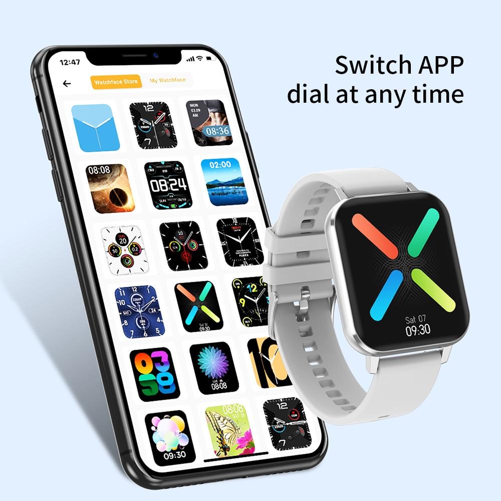 Smart Watch IP68 Waterproof 1.78inch Big Screen ECG Heart Rate Blood Pressure men women smartwatch for IOS Android enlarge