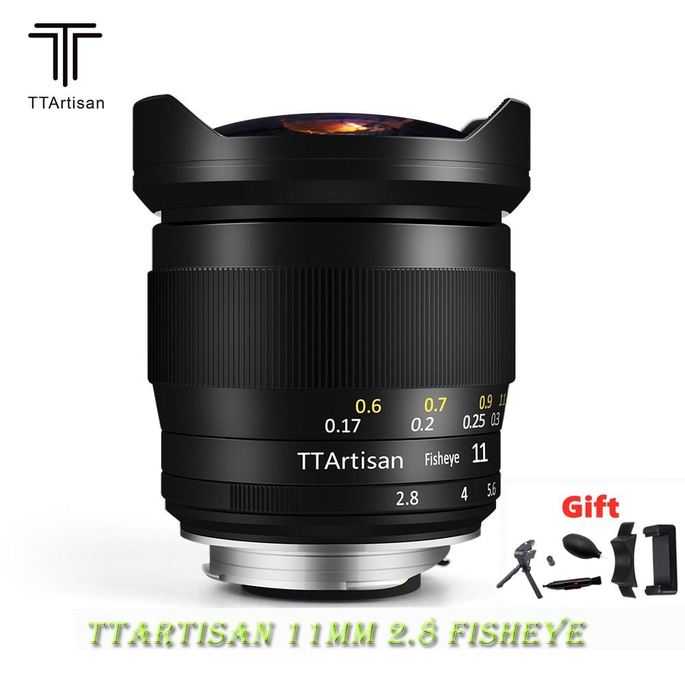TTArtisan 11 مللي متر F2.8 كامل الشهرة فيش عدسة الإطار الكامل التركيز اليدوي لكانون سوني E Leica L نيكون Z جبل كاميرات مثل Z6 Z7