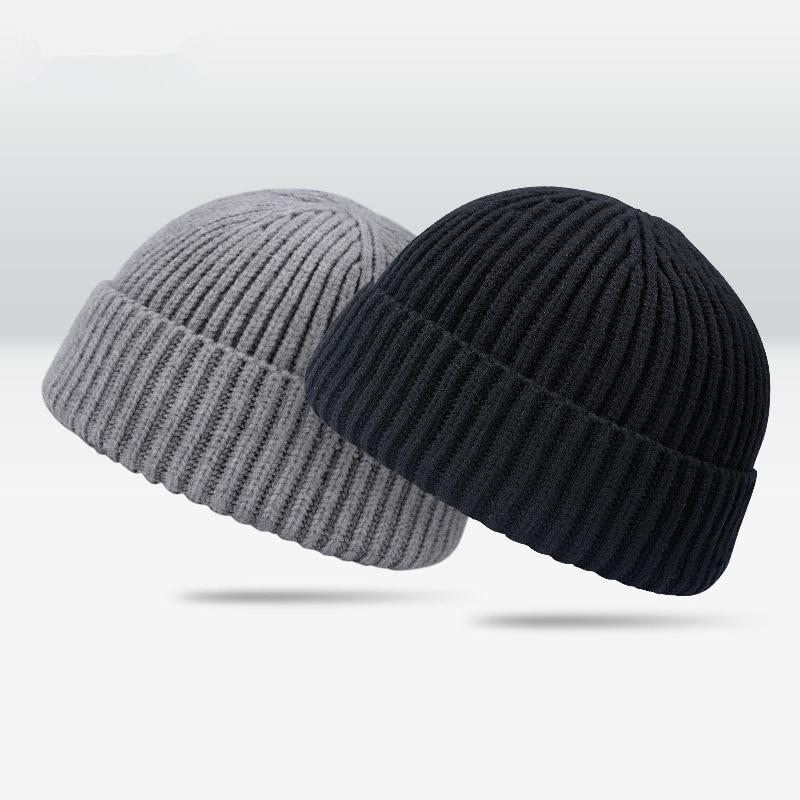 Tj-tianjun sombrero corto rogue Domo para hombres sombrero coreano tejido sombrero para el frío melón piel sombrero Yapi mujeres de moda de hip hop casero gorro lana gorro
