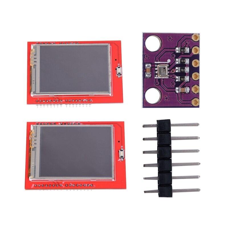 2 uds. Piezas para Arduino 1 Uds. Pantalla TFT LCD Shield de 2,4 pulgadas Panel táctil ILI9341 240X320 y 1 Uds. Módulo Sensor de presión BMP280