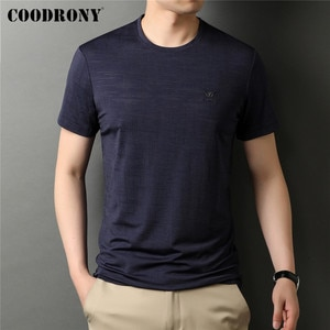 COODRONY Brand New Arrival High Quality Summer Thin Cool Top Tees Fashion Casual O-Neck Short Sleeve T Shirt Men Clothing C5194S