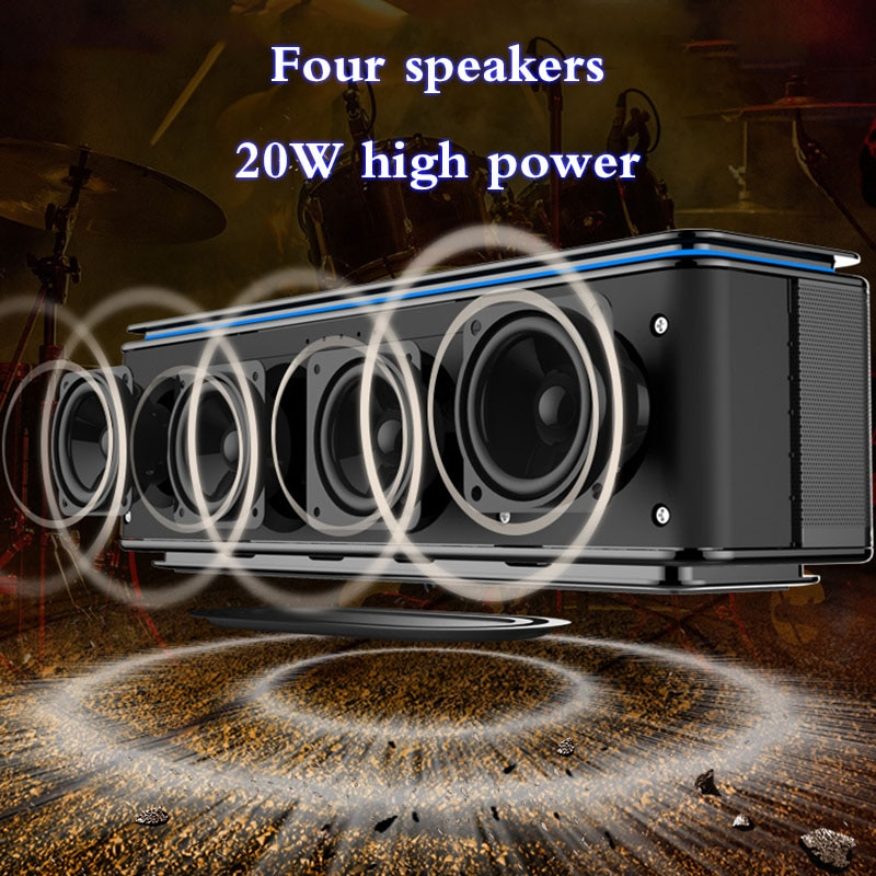 ZEALOT portable speaker supports Bluetooth TF card audio cable USB wireless music hands-free call heavy bass enlarge