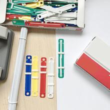 Mini 50 teile/satz Kunststoff Bindung Zwei-Stück Zwei-Stück Papier Verschluss Dokument Papier Befestigungen Praktische Student Business