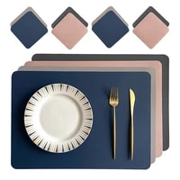 leather placemats household goods insulation table mats restaurants waterproof placemats coaster