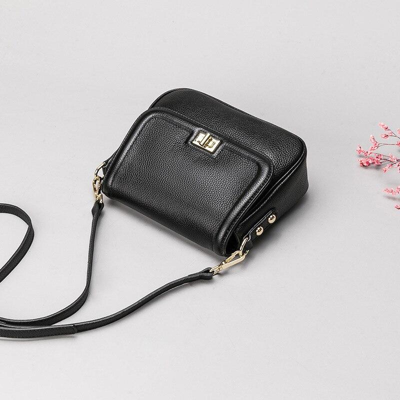 حقيبة نسائية 2019 جديد الصيف الطبقة الأولى جلد البقر رسول حقيبة كتف الكورية 0410