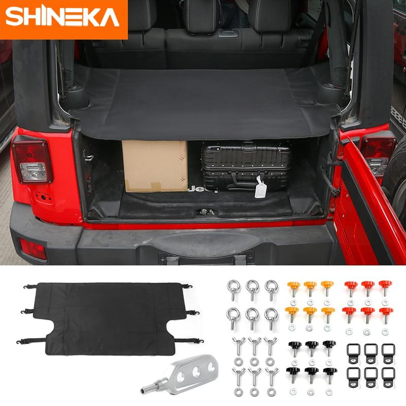 SHINEKA 4 أبواب غطاء صندوق السيارة الذيل الباب المسمار مشبك تفكيك تفكيك تفكيك أداة مزيل ل جيب رانجلر JK 2007 +