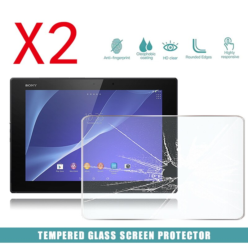 2pcs tablet tempered glass screen protector cover for acer iconia one 10 b3 a50fhd anti screen breakage tempered film 2Pcs Tablet Tempered Glass Screen Protector Cover for Sony Xperia Z2 Tablet LTE Anti-Scratch breakage HD tempered film