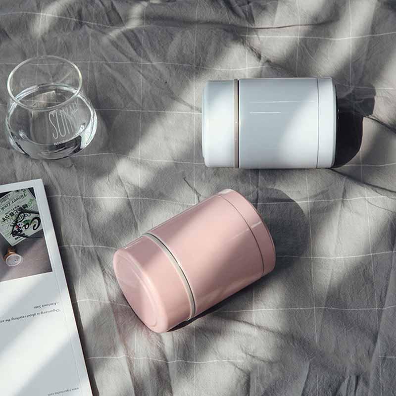ZOOOBE 400ML de Aço Inoxidável À Prova de Fugas 304 Thermocup Caixa De Comida do Almoço Térmica Lancheira Garrafa Térmica Frascos de Vácuo Recipiente de Alimento