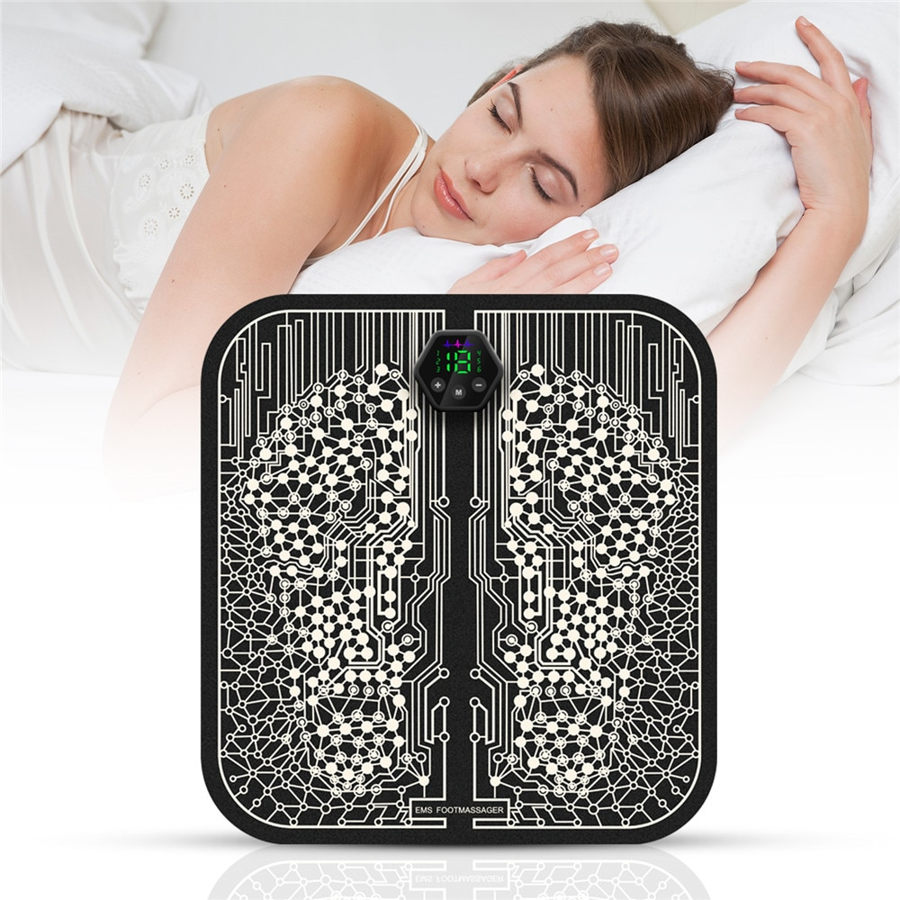 EMS Foot Massager Electric Intelligent Pulse Acupuncture USB Charging Relieve Ache Pain Health Care
