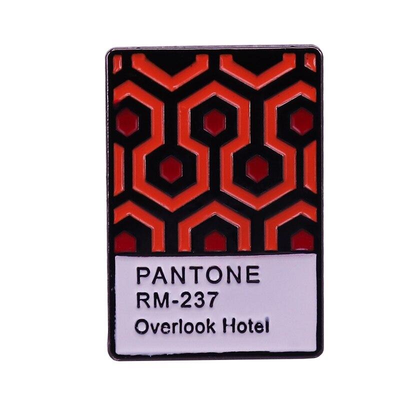 El broche Pantone de la alfombra brillante Stephen King Overlook insignia del Hotel icónico película de terror joyería temática