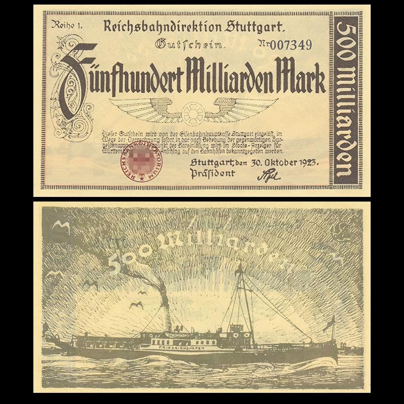 Germany 500 Billion, 1923, P-s1378, UNC, Original, Collectibles