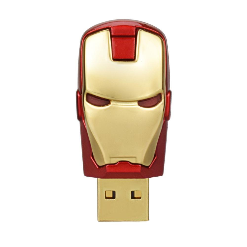 TOPESEL Mini USB Key Memory Stick 64GB iron Man USB Flash Drive 32GB Pen Drive Real Capacity Pendrive UDisk Cool USB Key