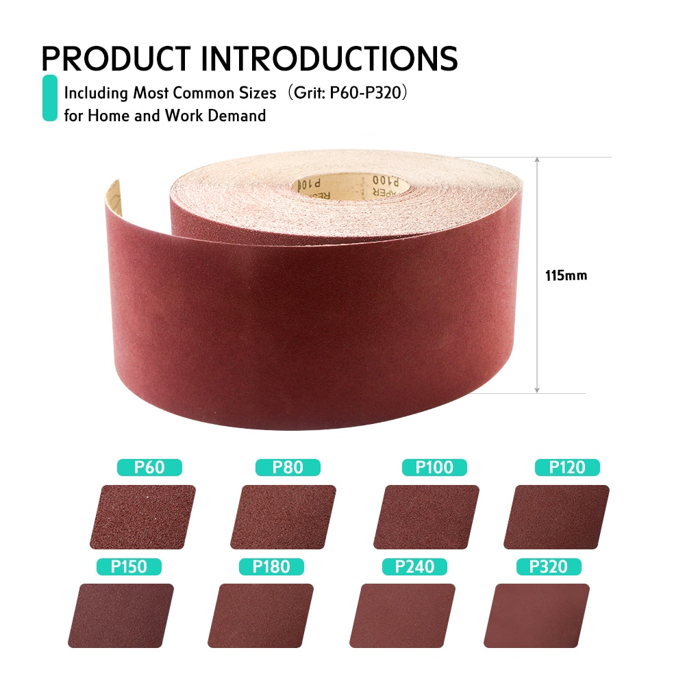 Sandpaper Roll Wall Putty Polishing Wood Furniture Flat Leveling Metal Rust Removal sand paper  knife sharpener for power tools