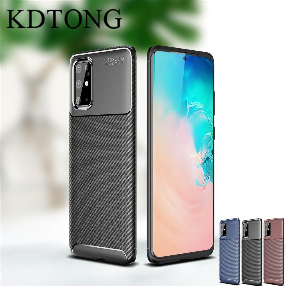 Funda de teléfono para Samsung Galaxy A01, A11, A21, A41, A51, A71, A81, A91, funda de lujo de fibra de carbono de silicona suave, funda de TPU anticaída