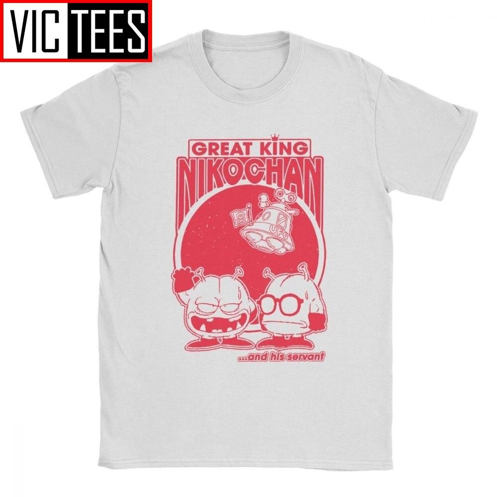 Злой король Nikochan арале футболки мужские из чистого хлопка повседневные футболки Dr Slump Toriyama Аниме Манга 90s милые 80s футболка с коротким рукавом